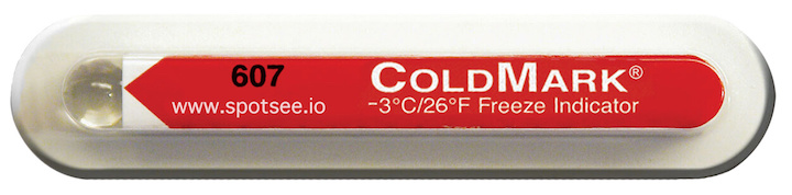CLMSEN001: Temperature Label ColdMark (26°F/-3°C)
