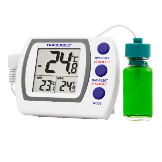 COCSEN096: Refrigerator/ Freezer Plus Thermometer with Sensor in Vial.