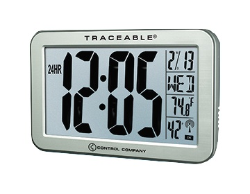 COCSEN107: Traceable Jumbo-Digit Compact Radio-Controlled Wall Clock