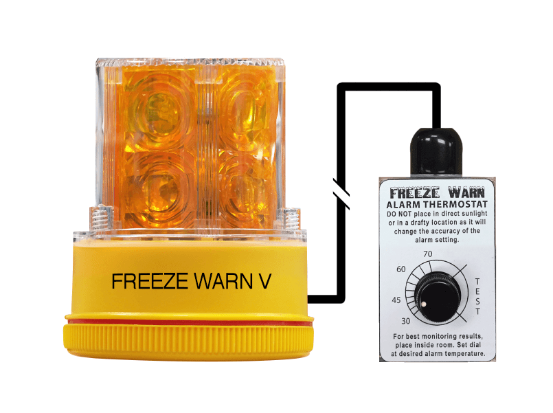 FREALM010: Battery Powered Freeze  Warn V