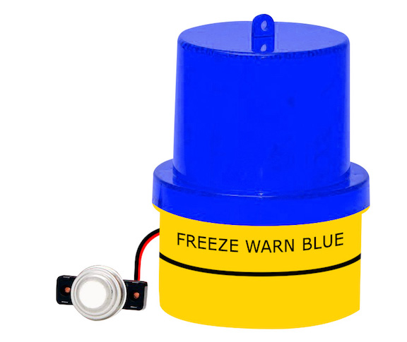 FREALM019: Battery Powered Freeze Warn Blue Light