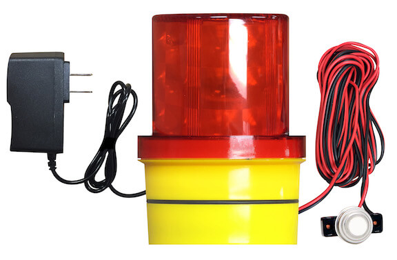 FREALM013P02: Freeze Warning Light with Magnetic Base, 14 Ft. Sensor Cable, and AC Power Supply