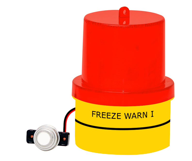 FREALM013: Freeze Warning Light with Magnetic Base, Free Batteries and Extra Long Sensor Cable