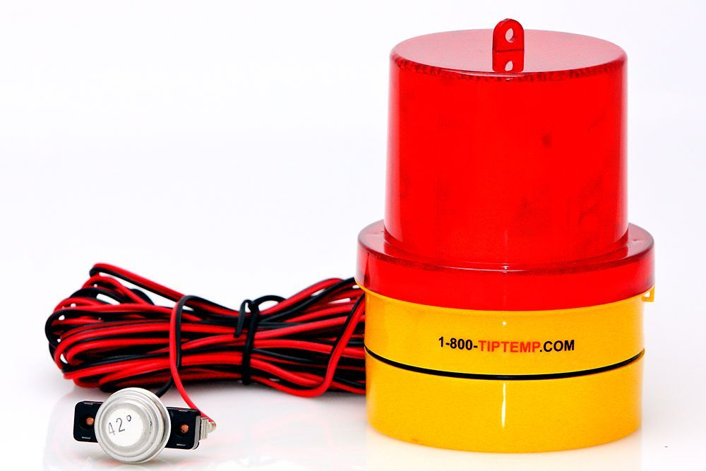 FREALM013: Freeze Warning Light with Magnetic Base, Free Batteries and 20 Ft. Sensor Cable