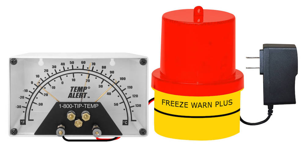 FREALM015: Freeze Warn Plus Thermometer and Alarm Light with AC Power Supply