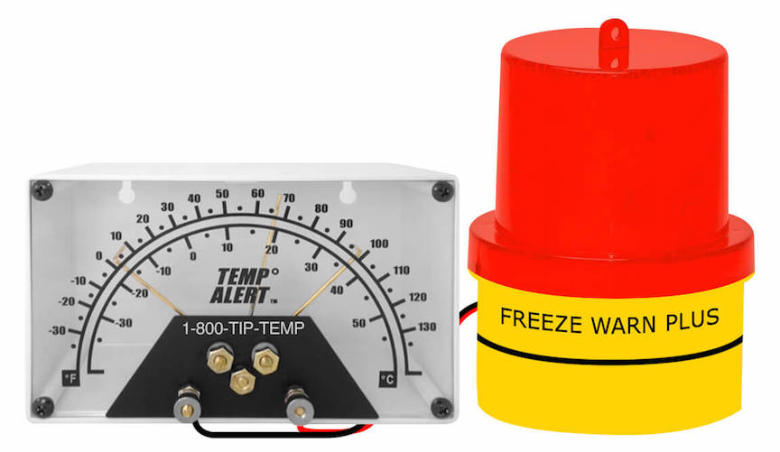 FREALM015: Freeze Warn Plus Thermometer and Alarm Light