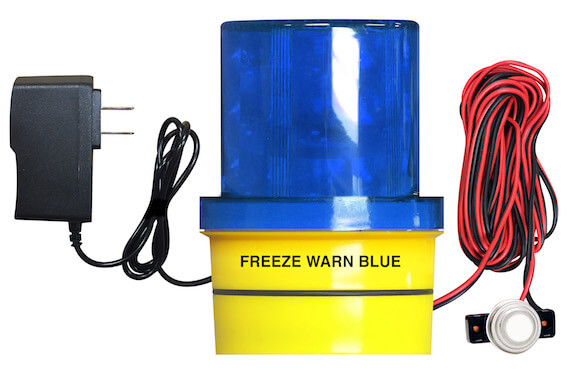 FREALM019P01: Freeze Warn Blue Light with Magnetic Base, 14 Ft. Sensor Cable, and Power Supply