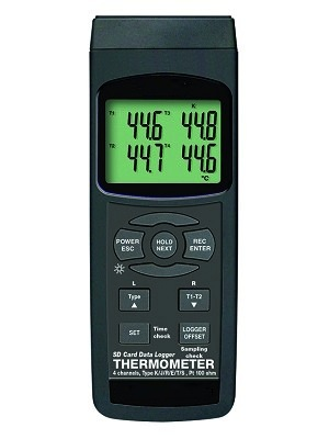 GENREC004: 4 Channel Thermocouple Thermometer Recorder