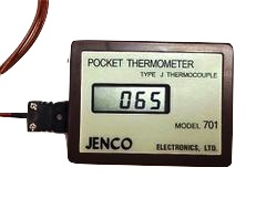 JENMTR002: Magnetic Back Thermocouple Temperature Meter Type J - Celsius