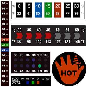 Reversible Temperature Labels
