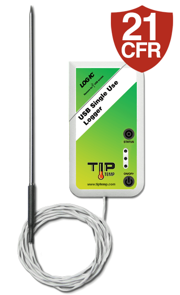 SHOREC014: LOG-IC Single Use Temperature Recorder with Stainless Steel Probe (External USB)