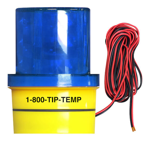STRALM004P02: Blue Warning Signal Light