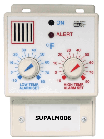 SUPALM006: Temperature Alarm with Hiigh & Low Setpoints