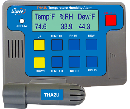 SUPREC001: THA2U Temperature/Humidity Logger & Alarm