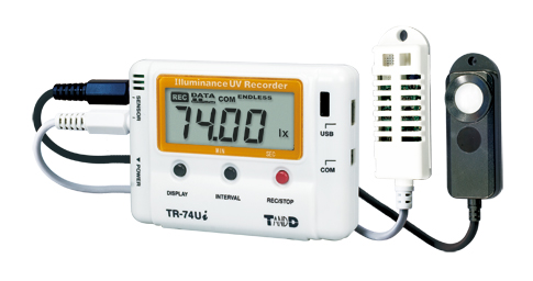 TADREC053: TR-74Ui Illuminance/UV Intensity/Temperature/Humidity Data Logger