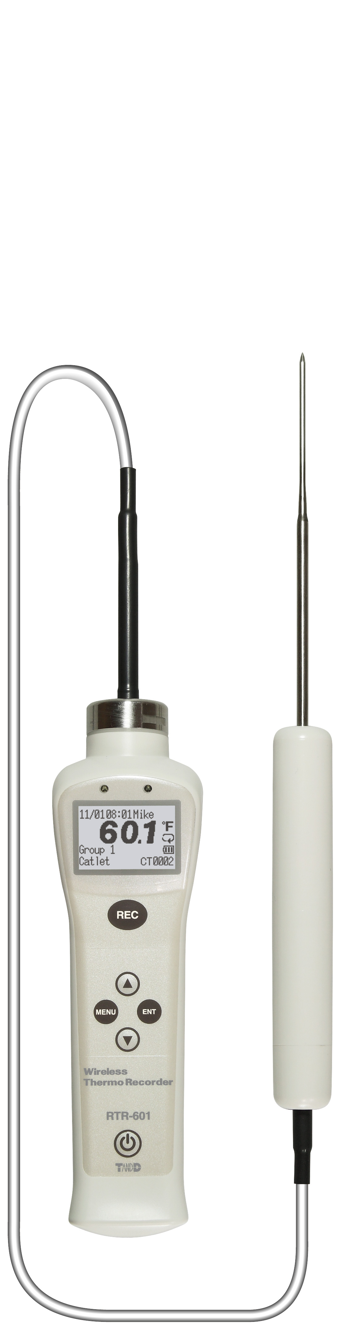 TADREC065: RTR-601-E10 Short Sensor Type Food Core Temperature Logger with Cable