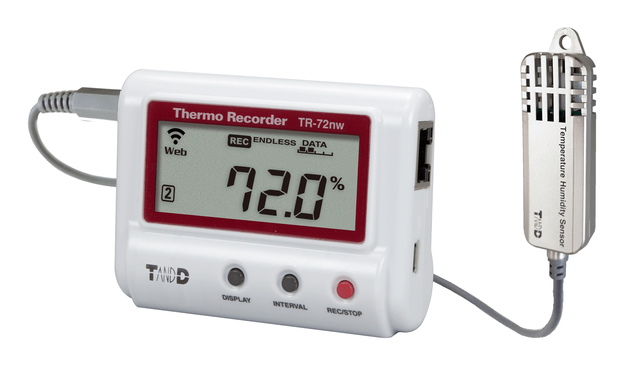 TADREC075: TR-72NW-S High Precision Temperature and Humidity Data Logger