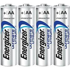 TIPACC326P02: Battery - Energizer Lithium AA (Pack of 4)
