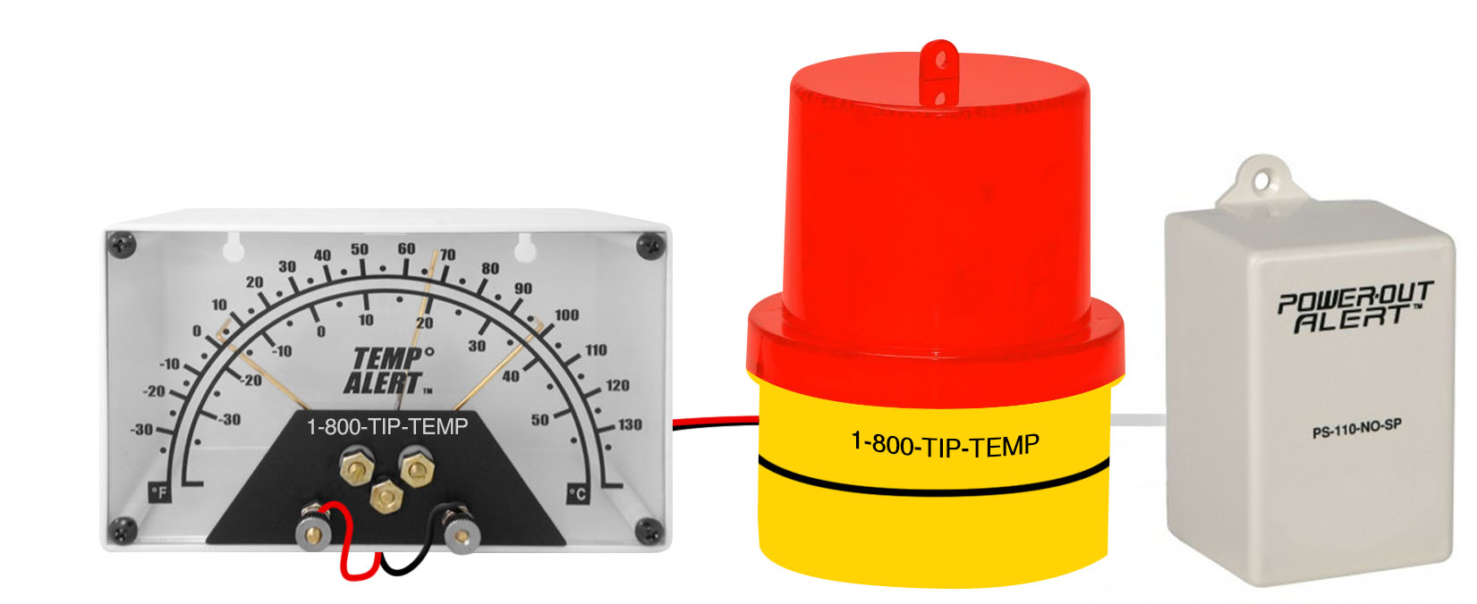 TIPALM007: Adjustable Temperature and Power Out Warning Light