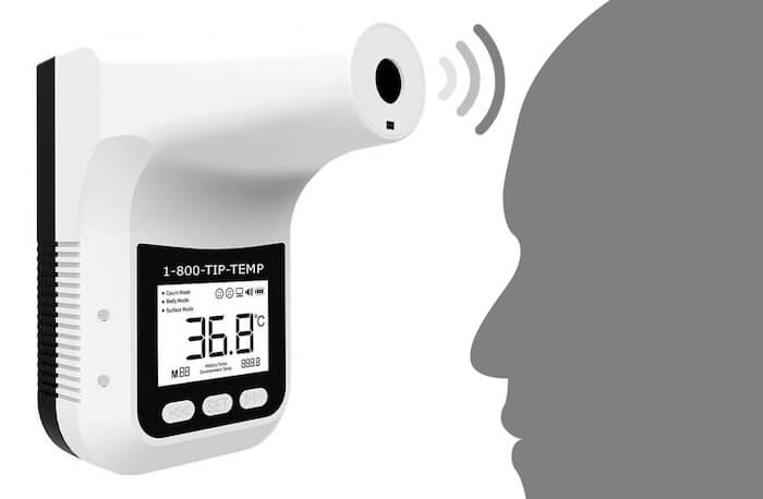 TIPINF002: Automatic Non Contact Infrared Wall Mounted Thermometer