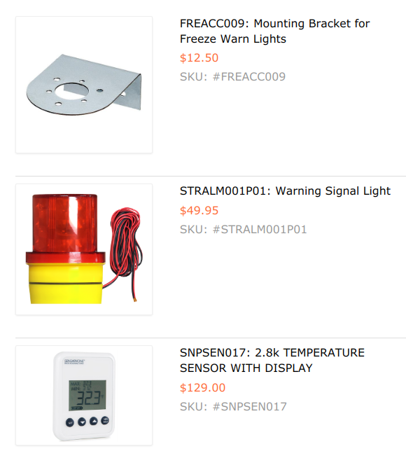 TIPKIT003: Professional Refrigerator Freezer Alarm Light and Buzzer