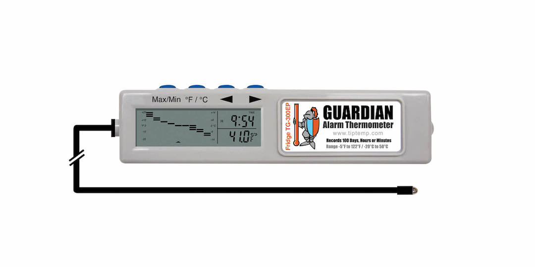 TIPREC005: TG-300EP Guardian Fridge Thermometer with 100 Day Memory and Ext Probe