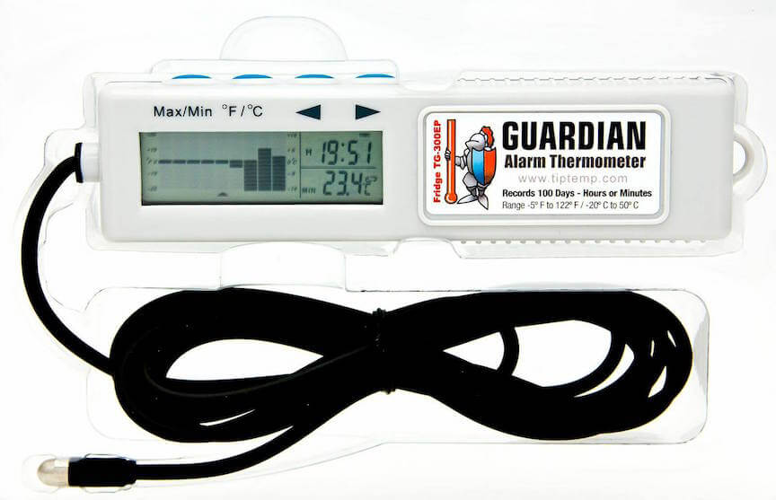TIPREC006: TG-301EP Guardian Ambient Thermometer with 4 Day Memory & Ext Probe