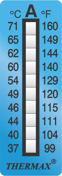 TLCSEN010: Temperature Label 10 Level Strip-A