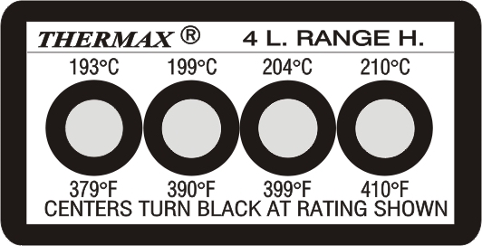 TLCSEN073: Temperature Label 4 Level Strip-H