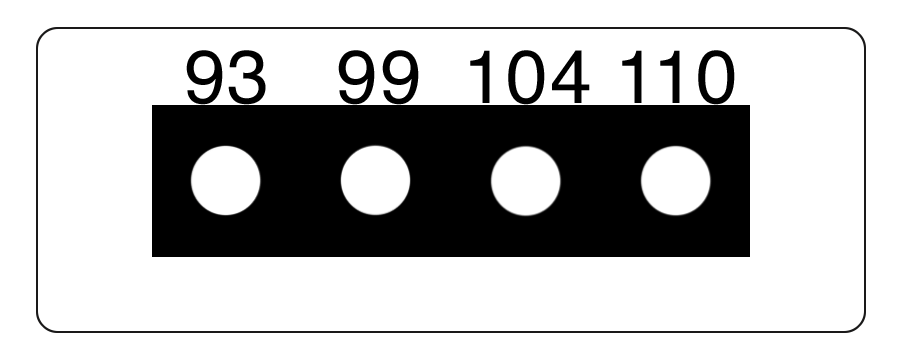 TLCSEN078: Temperature Label 4 Level MICRO Strip-4