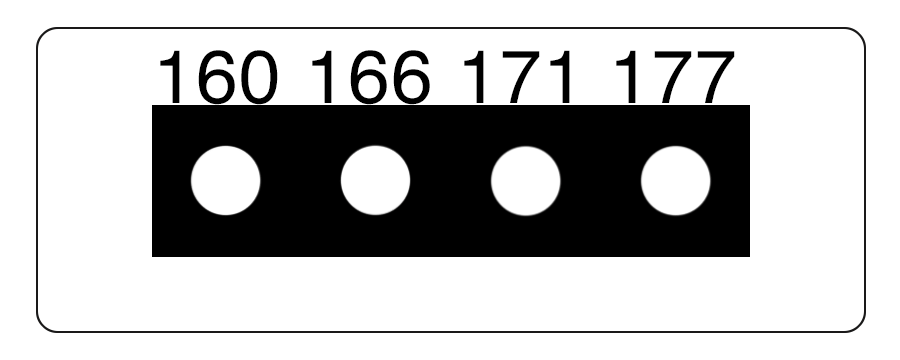 TLCSEN081: Temperature Label 4 Level MICRO Strip-7
