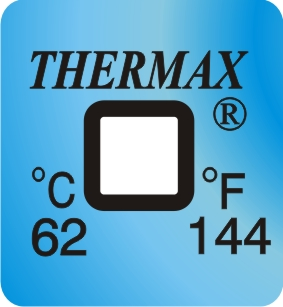 TLCSEN126: Temperature Label 1 Level-144F/62C