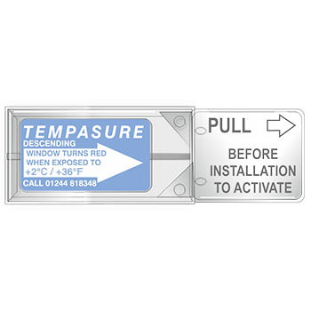 TLCSEN186: Temperature Label Tempasure Descending Indicator