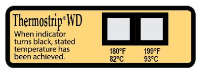 TLCSEN534: Irreversible ThermoStrip WD Temperature Label
