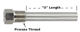 TIPTHW219: Thermowell Stainless Steel
