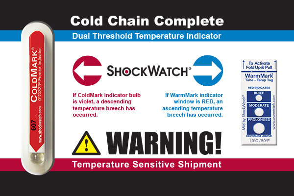 WMSSEN027: Temperature Label Cold Chain Complete Package (0°C to 10°C)