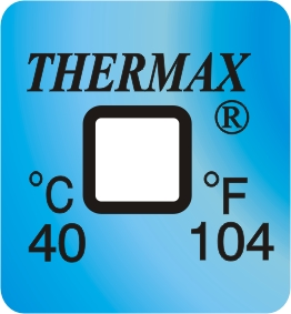 TLCSEN009: Temperature Label 1 Level-104F/40C