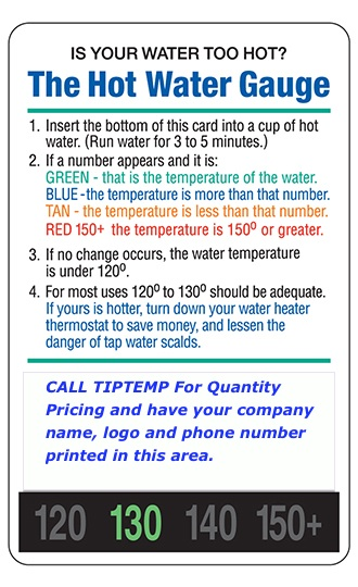 TLCSEN475: Hot Water Gauge Card