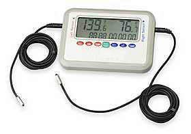 GRNREC001: Alarm Thermometer with Dual Sensors & Recording Feature