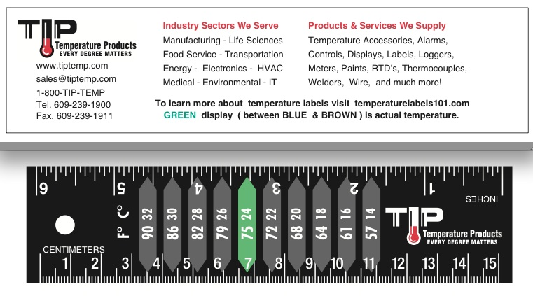 TLCSEN305: Temperature Label Thermo-Ruler